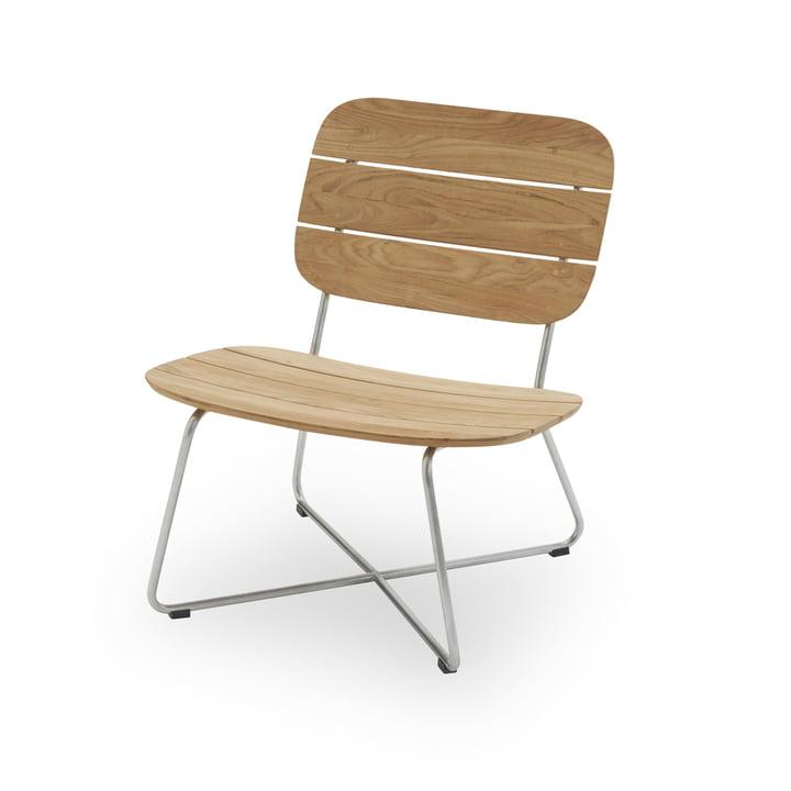 Lilium Lounge Stuhl, Teak / Edelstahl von Skagerak