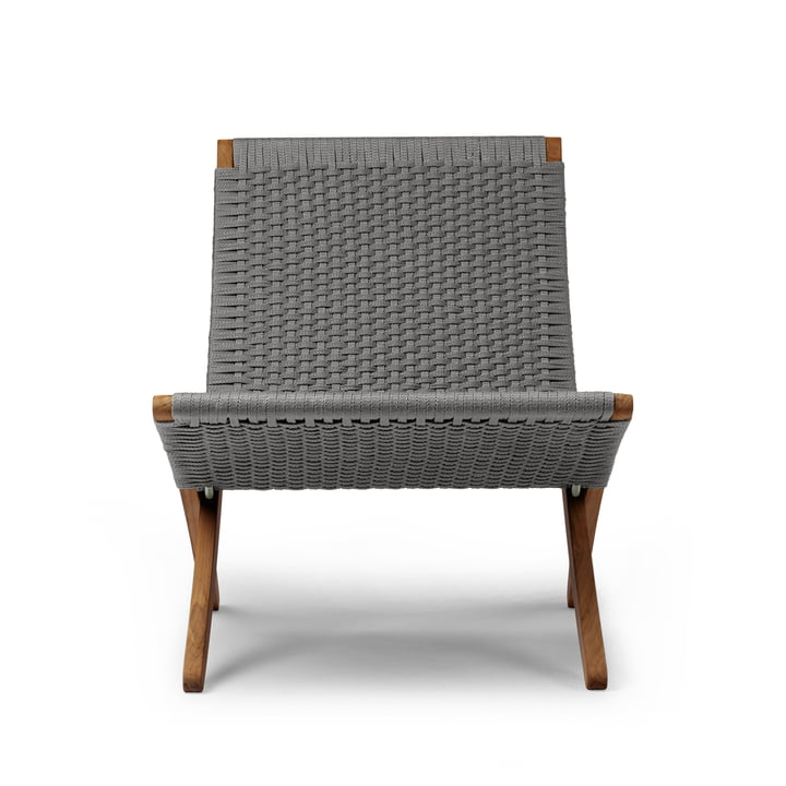 MG501 Cuba Chair Outdoor von Carl Hansen in Teak geölt / anthrazit