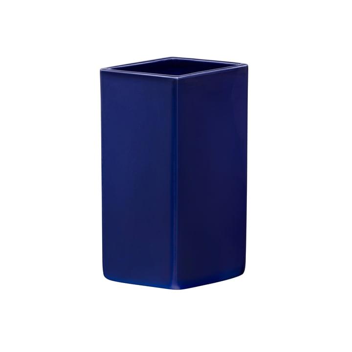 Ruutu Keramik-Vase 180 mm von Iittala in dunkelblau