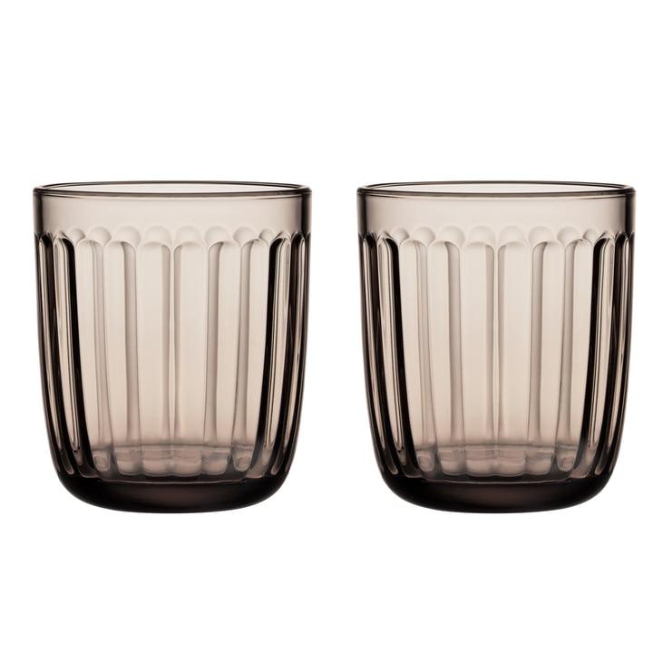 Raami Trinkglas 26 cl von Iittala in leinen (2er-Set)