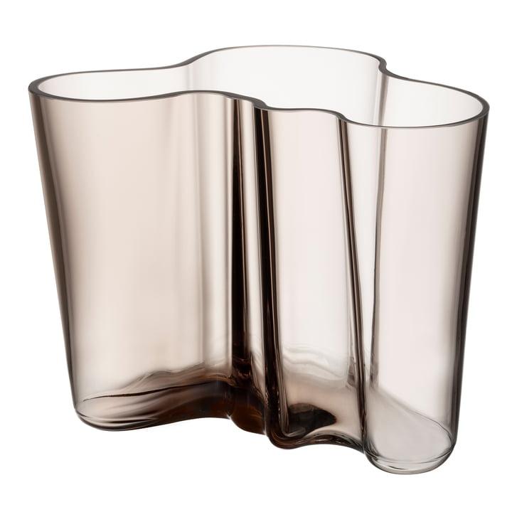 Aalto Vase Savoy 160 mm von Iittala in leinen