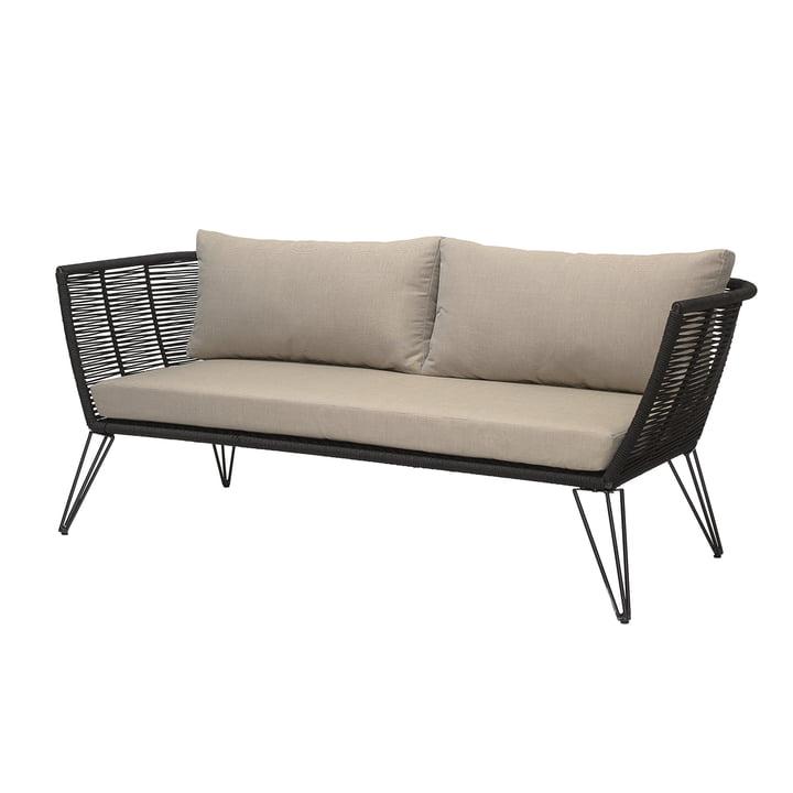 Mundo Sofa mit Kissen, schwarz / beige von Bloomingville