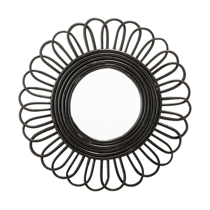 Spiegel geflochten Ø 48 cm von Bloomingville in schwarz
