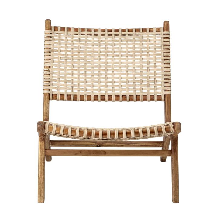 Keila Lounge Chair von Bloomingville in Teakholz / Rattan