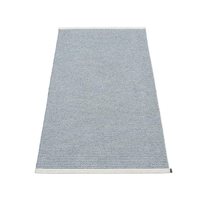 Mono Teppich 85 x 160 cm von Pappelina in sturmblau / hellgrau