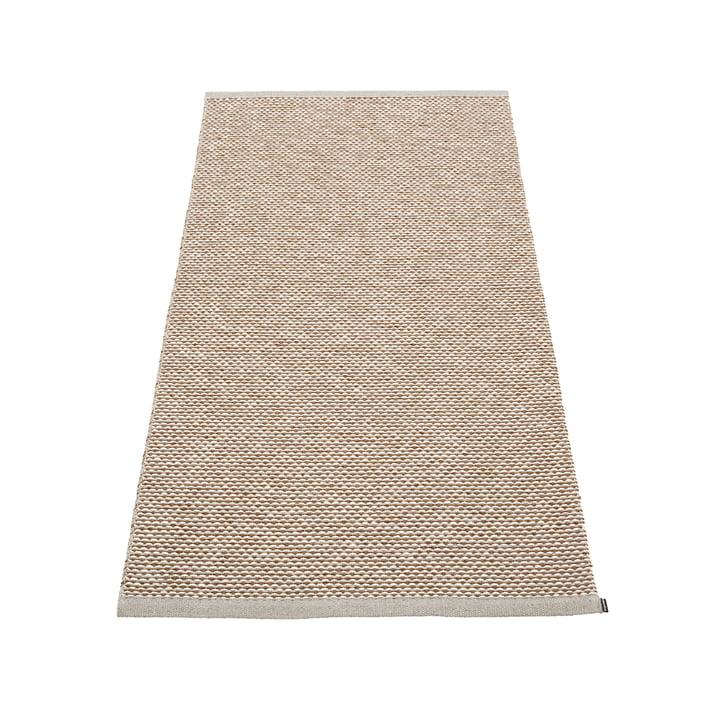 Effi Teppich 85 x 160 cm von Pappelina in warm grey / braun / vanilla