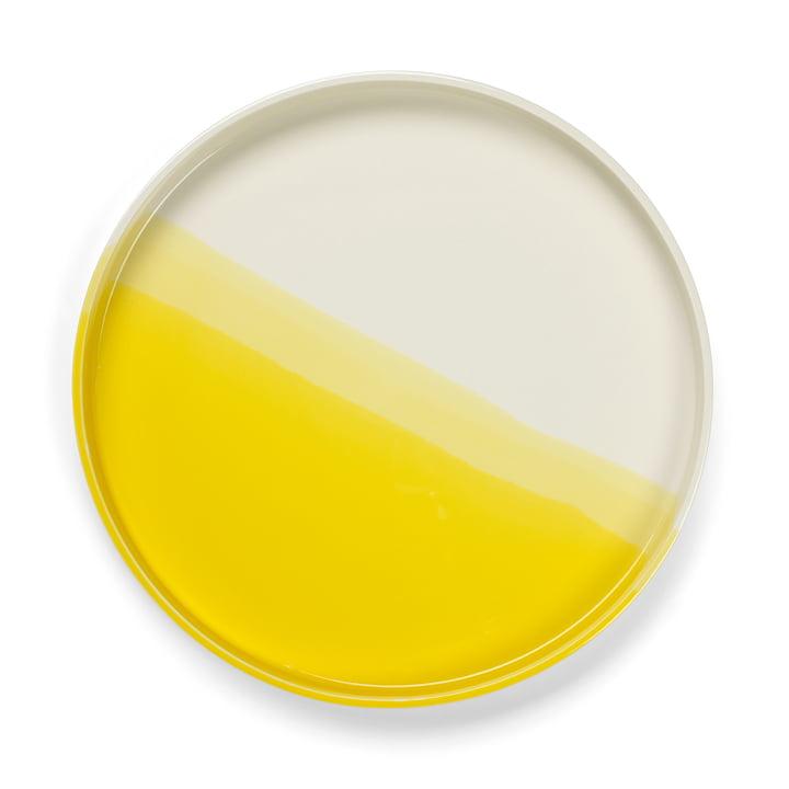 Herringbone Tray Ø 35,5 cm von Vitra in gelb