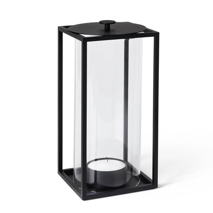 Light'In Windlicht H 28 cm von by Lassen in schwarz