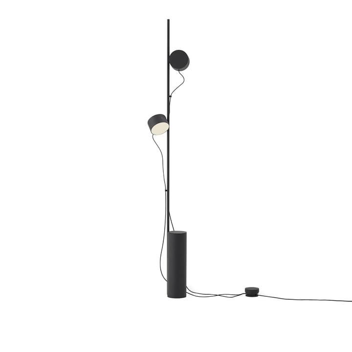 Post LED-Stehleuchte von Muuto in schwarz