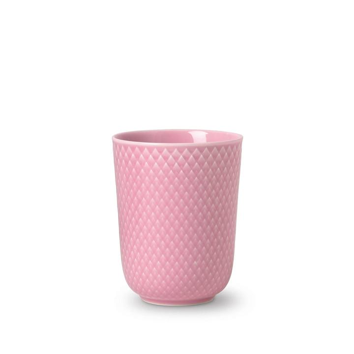 Rhombe Becher 33 cl von Lyngby Porcelæn in rosa