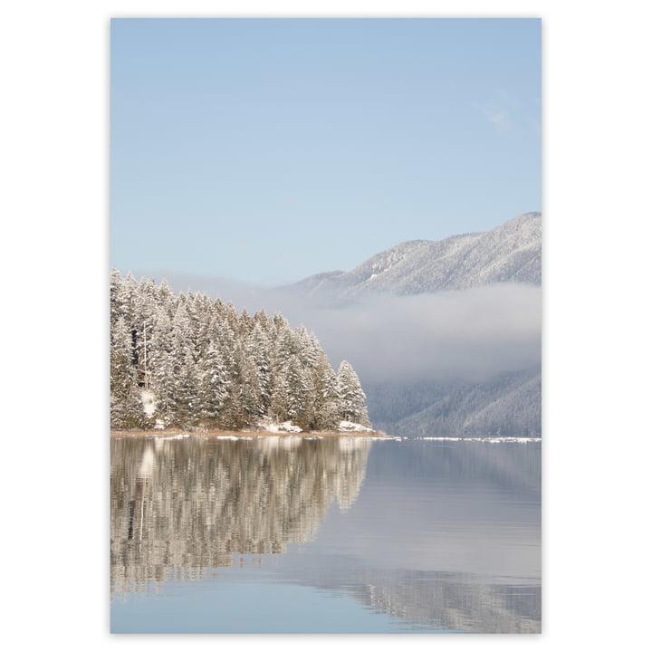 Winterliche Landschaftsfotografie in Hellblau