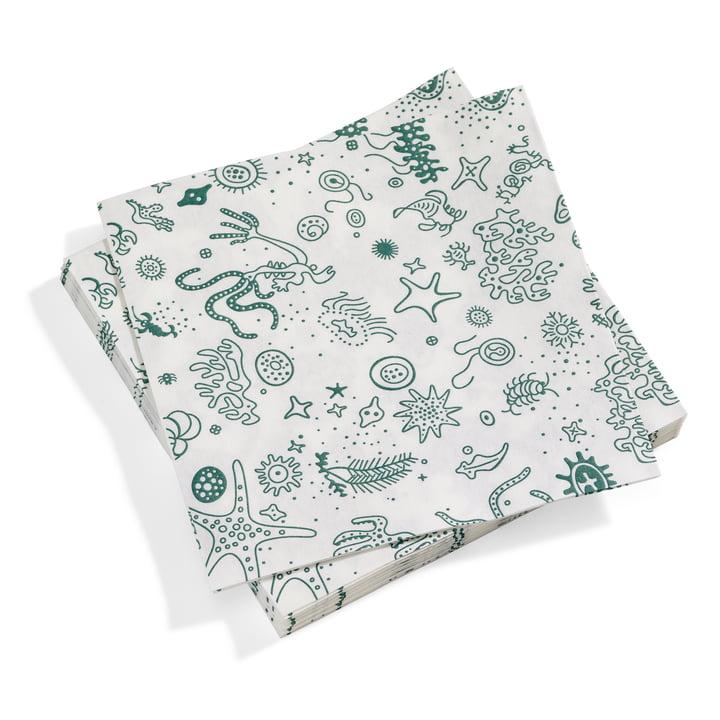 Paper Napkins large Sea Things von Vitra in türkis