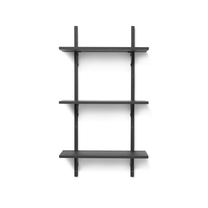 Sector Wandregal triple, 54 cm, Esche schwarz / Messing schwarz von ferm Living