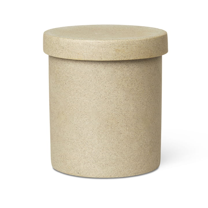 Bon Accessoires Aufbewahrungsdose groß von ferm Living in beige / schwarz