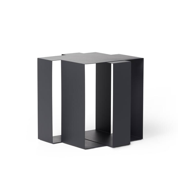 Shifted Square Beistelltisch von Frederik Roijé in dunkelgrau