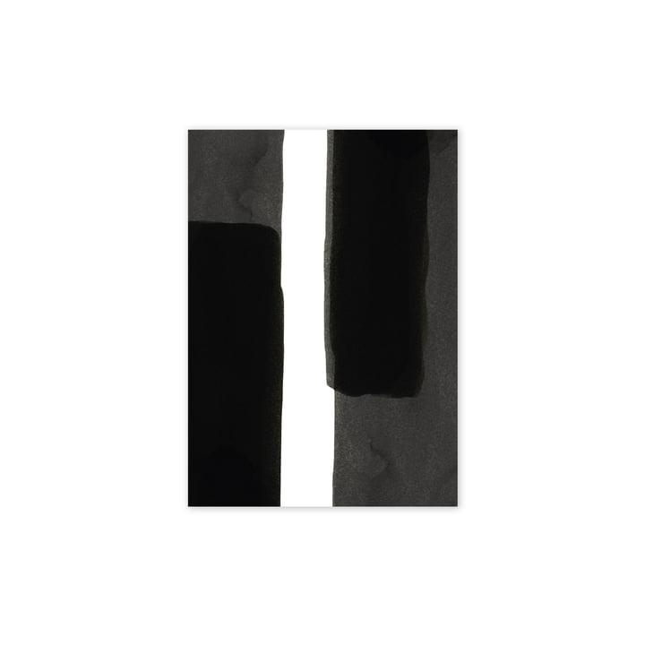 Enso Black I Poster, 30 x 40 cm von Paper Collective