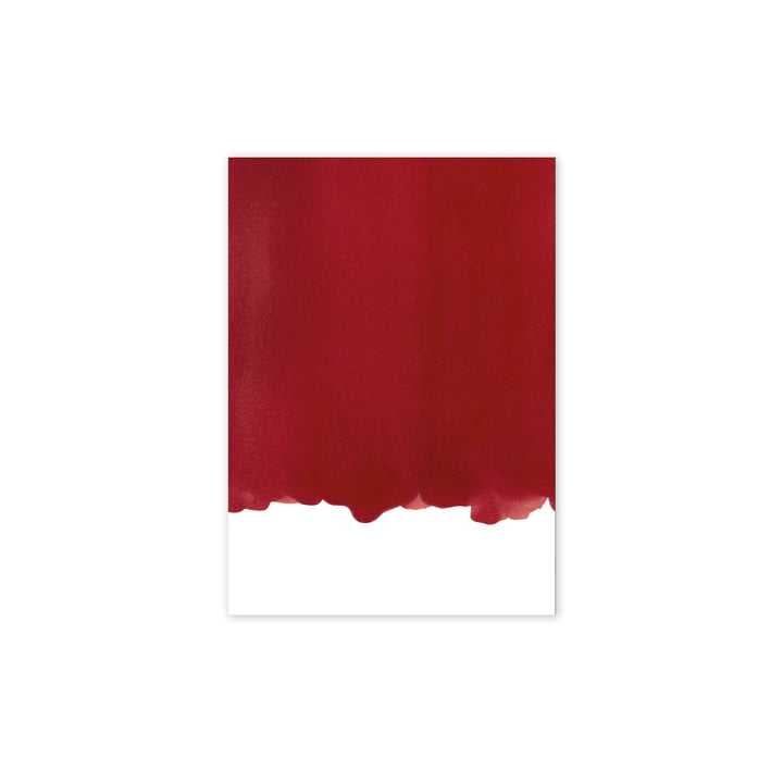 Enso Red I Poster, 30 x 40 cm von Paper Collective