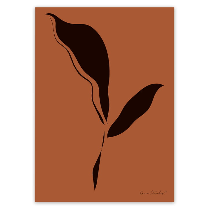 artvoll - Leaf abstraction 01 Poster by Rowan Sterenberg
