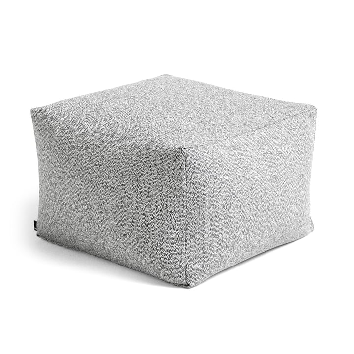 Varer Pouf von Hay in grey sprinkle