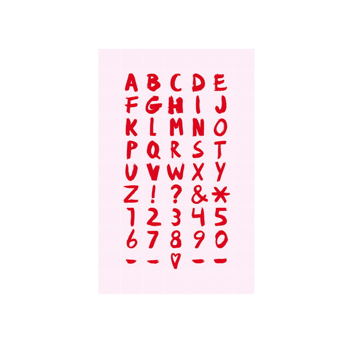 Mini Quotes Poster von IXXI in rosa