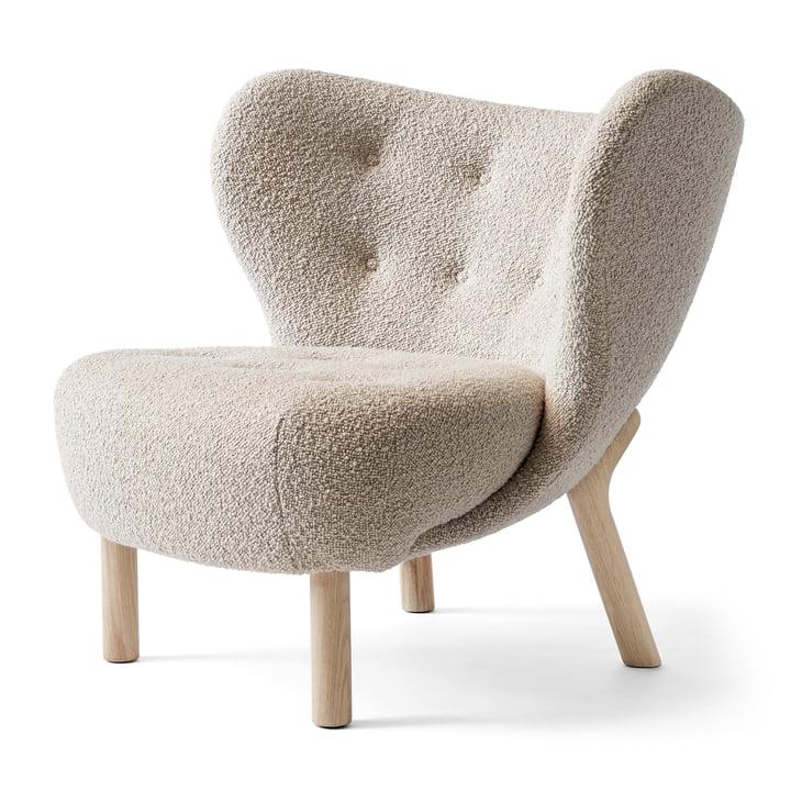 Little Petra VB1 Lounge Chair von &tradition in Eiche weiß geölt / Karakorum 003