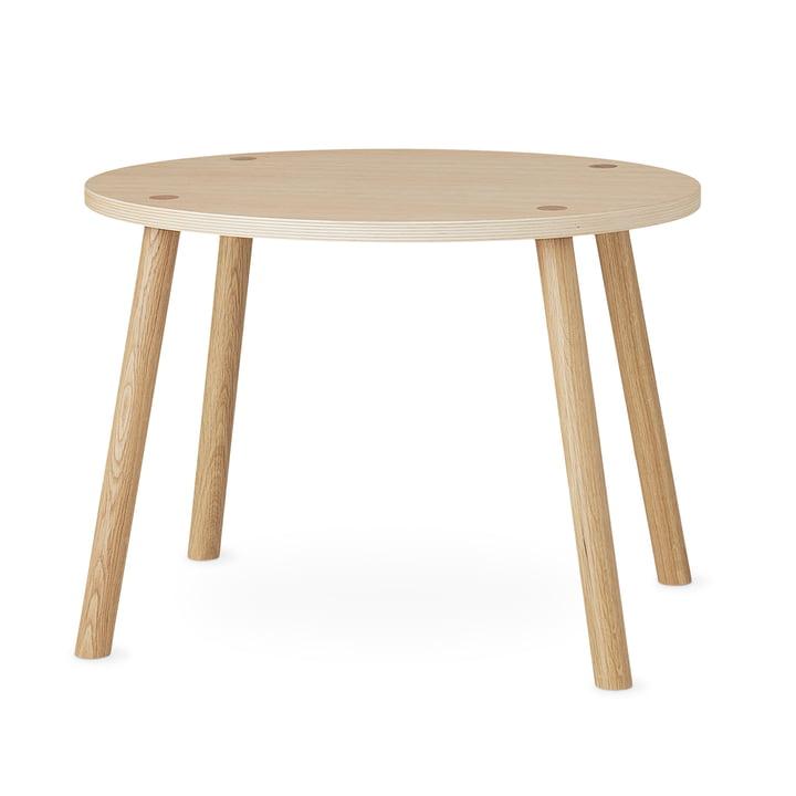 Mouse Kindertisch oval 64 x 46 cm von Nofred in Eiche matt lackiert