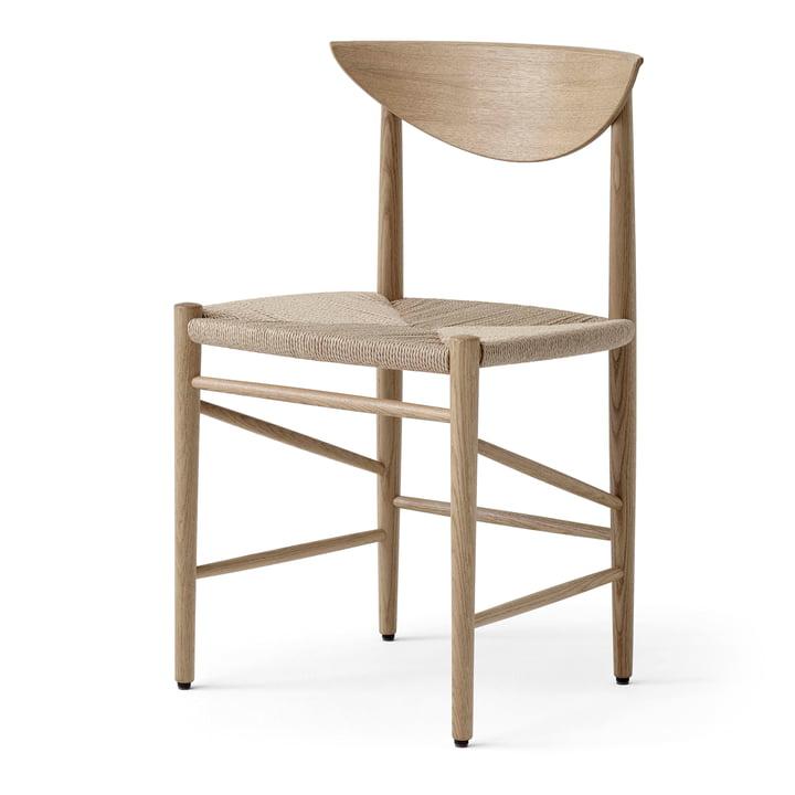 Drawn HM3 Stuhl von &tradition in Eiche weiß geölt / Papierkordel natur
