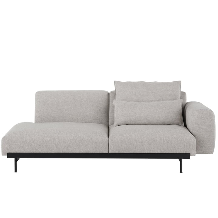 In Situ Modular Sofa, 2-Sitzer / Konfiguration 2, Kvadrat Clay 12 von Muuto
