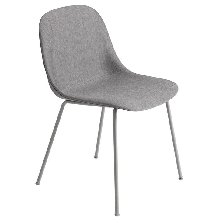 Fiber Side Chair Tube Base, grau / Remix 133 von Muuto