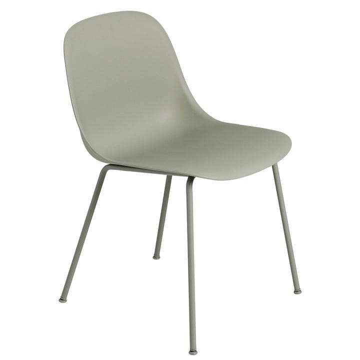 Fiber Side Chair Tube Base, dusty green von Muuto