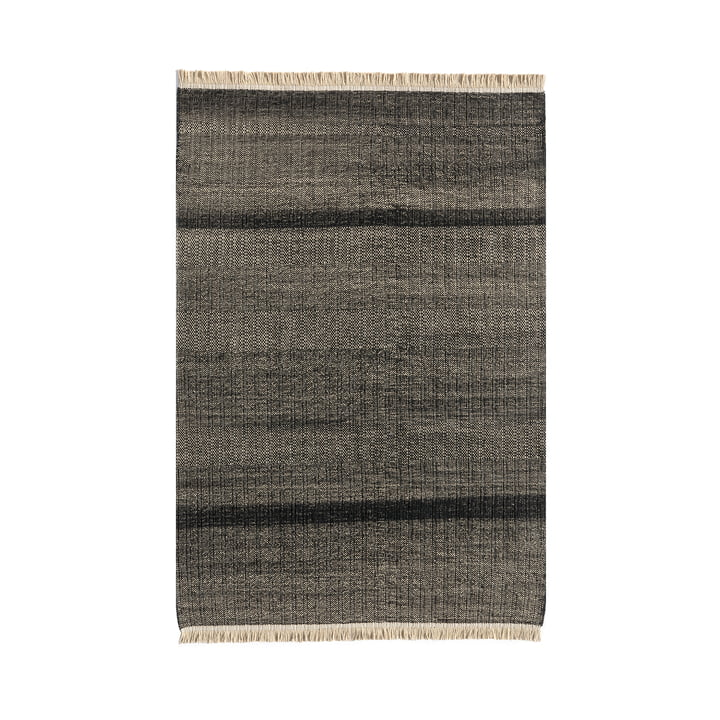 Tres Stripes Outdoor-Teppich 170 x 240 cm von nanimarquina in schwarz