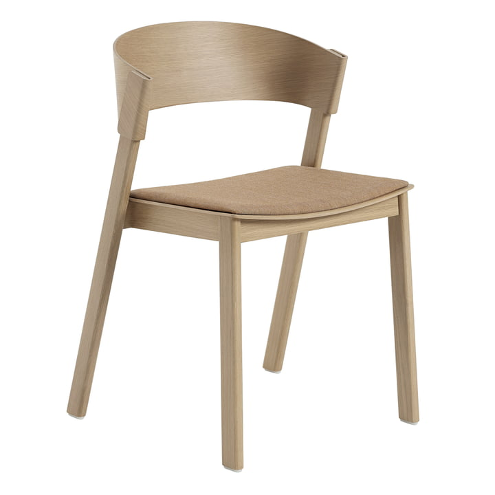 Cover Side Chair von Muuto in Eiche / Remix 252