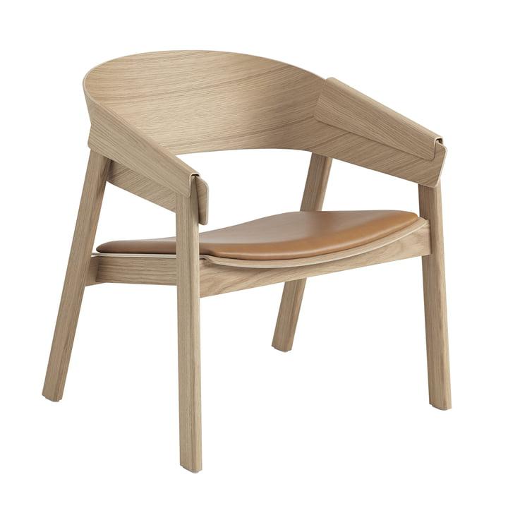 Cover Lounge Chair von Muuto in Eiche / cognac