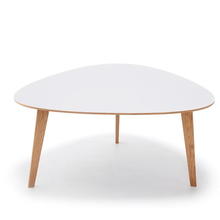 T8 Esstisch 150 x 127 H 73,5 cm von Andersen Furniture in Eiche weiß pigmentiert / weiß