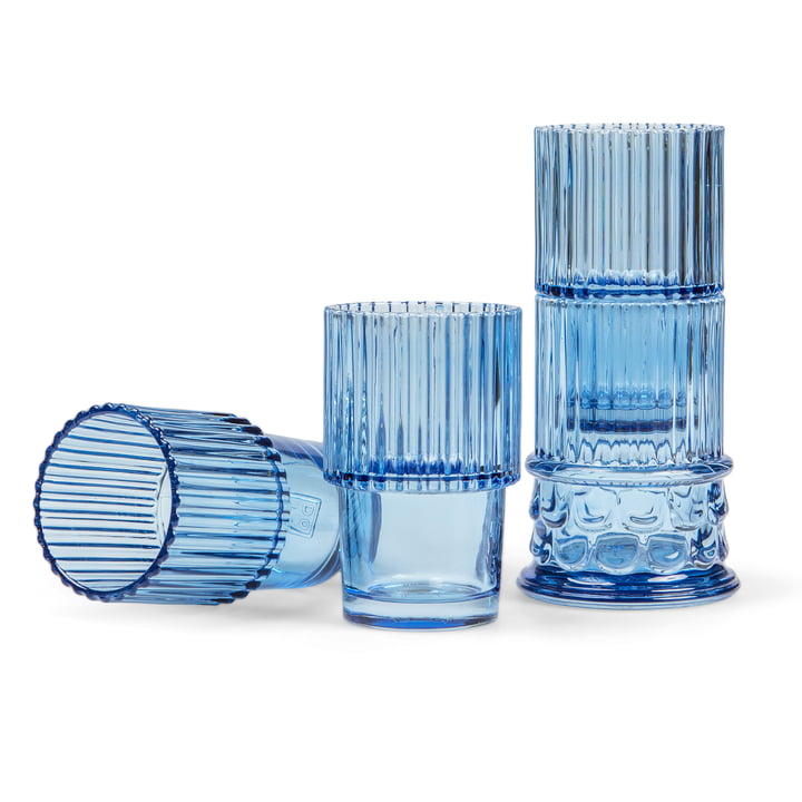 Doiy - Hestia Trinkgläser-Set (4-tlg.), blau