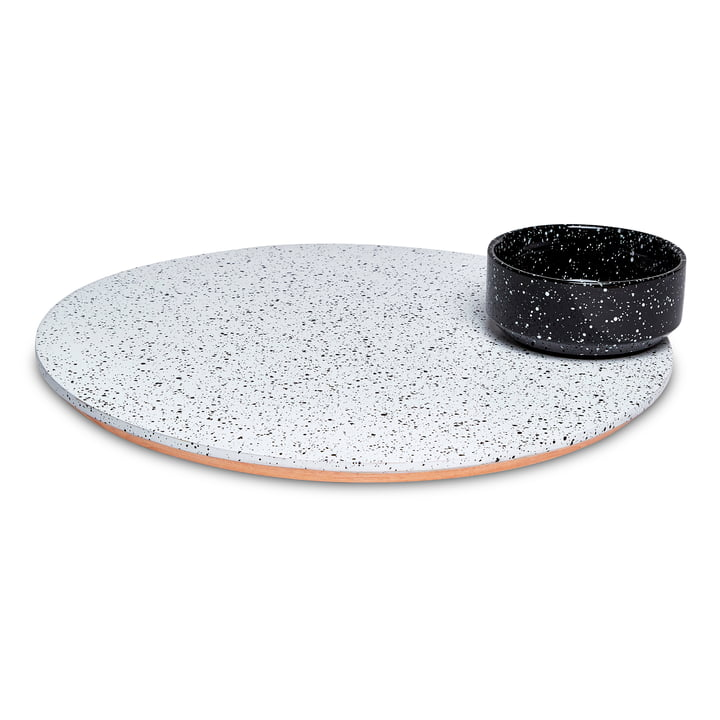 Eclipse Servierplatte, weiß / schwarz von Doiy