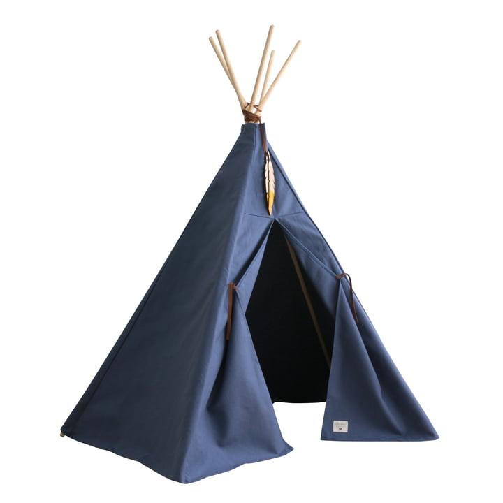 Nevada Tipi-Zelt, aegean blue von Nobodinoz