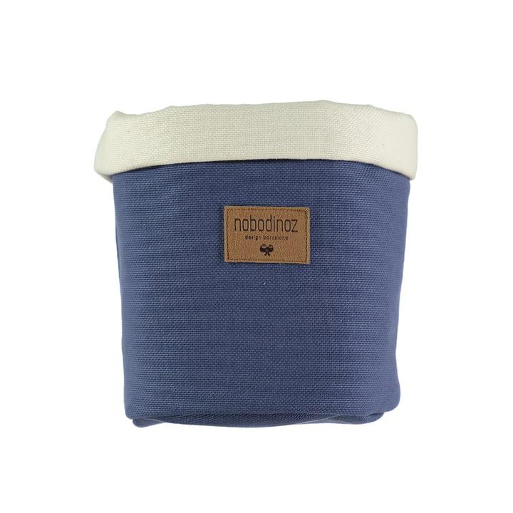 Tango Aufbewahrungskorb medium, Ø 19 x H 24 cm, aegean blue von Nobodinoz