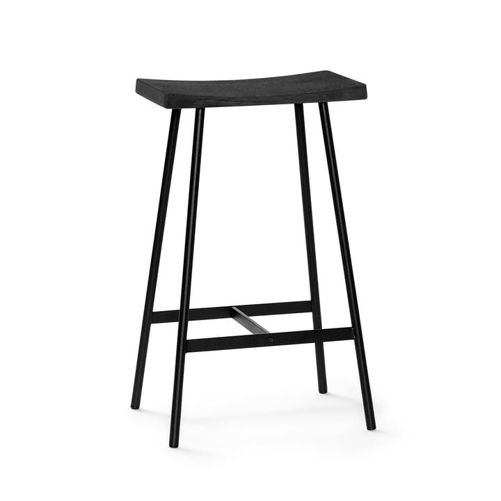 HC2 Barhocker H 65 cm von Andersen Furniture in Eiche schwarz / Stahl schwarz