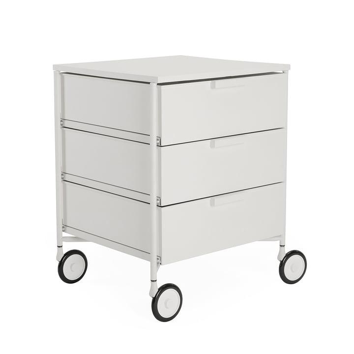 Mobil Container mit Rollen, 3 Schubladen, weiß matt von Kartell