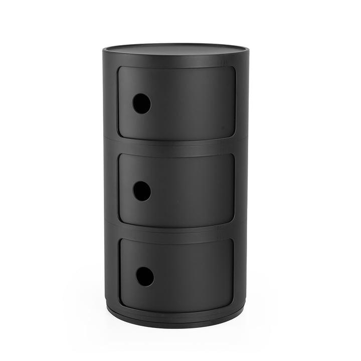Componibili 4988, schwarz matt von Kartell