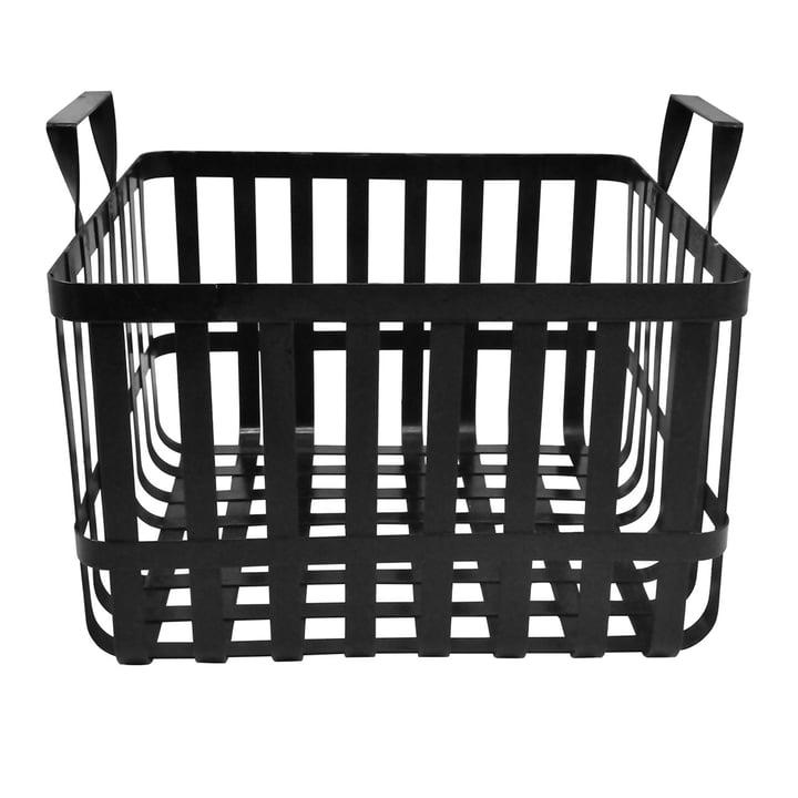 Der Wire Aufbewahrungskorb H 26 cm, schwarz aus der Connox Collection