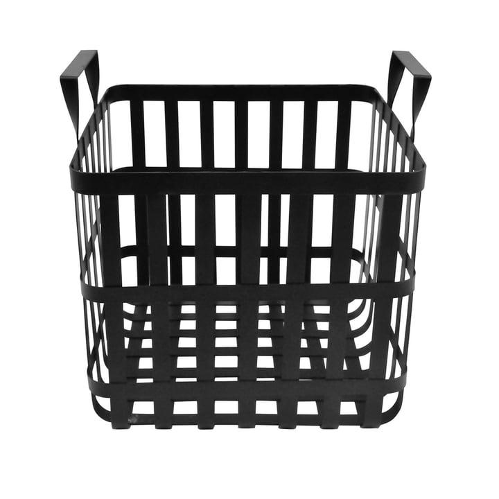 Der Wire Aufbewahrungskorb H 30 cm, schwarz aus der Connox Collection