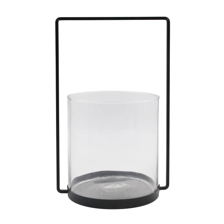 Das Windlicht Metall H 36 cm, schwarz aus der Collection