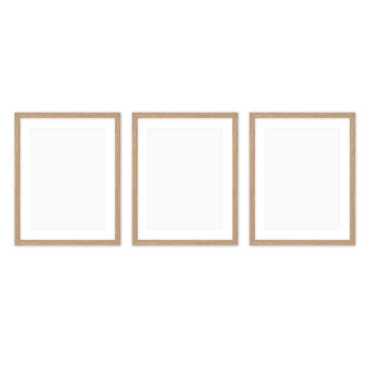 Frame it Bilderrahmen 30 x 40 cm Set (3-teilig), Eiche von Connox Collection