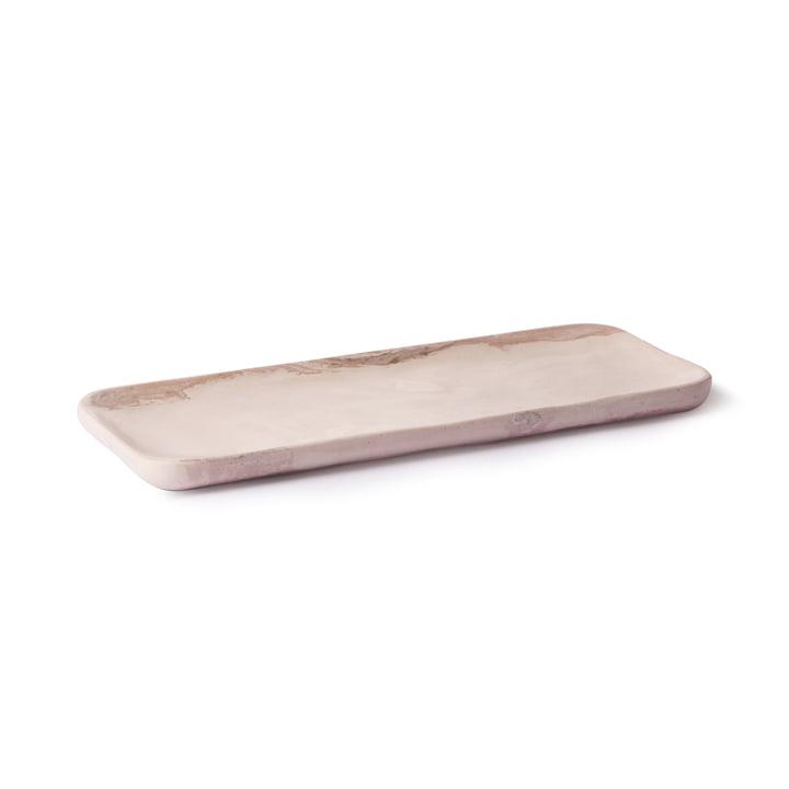 Tablett 30 x 12 cm von HKliving in Marmor rosa