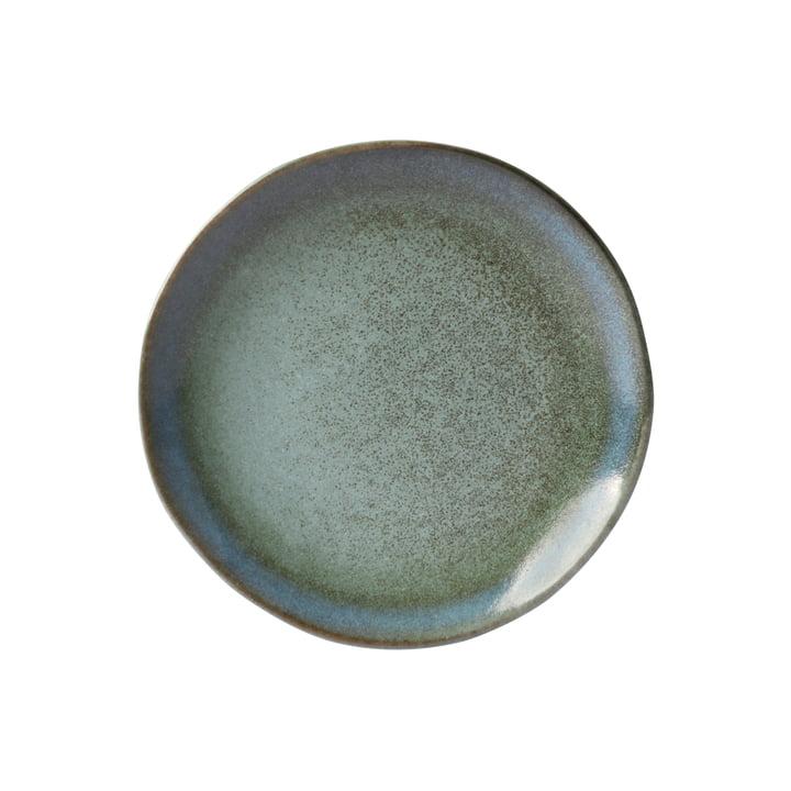 70's Dessertteller Ø 17,5 cm von HKliving in moosgrün