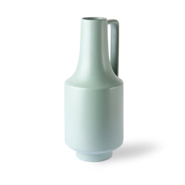 Vase mit Henkel, Ø 19 x H 41 cm, mintgrün von HKliving