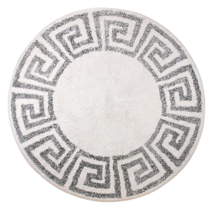 Greek Badematte rund L Ø 120 cm von HKliving in grau