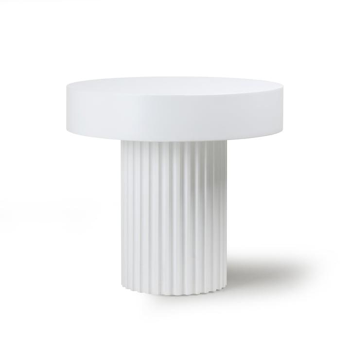 Pillar Couchtisch, Ø 49 cm, weiß von HKliving